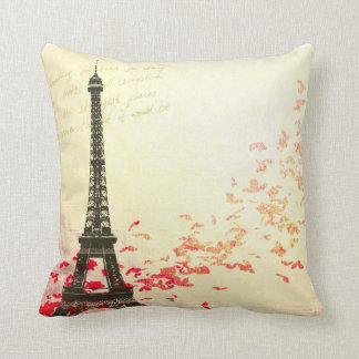 Love in Paris in the springtime Throw Pillow