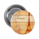 Love in Paris Pinback Buttons