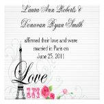 Love in Paris Post Wedding Reception Personalized Invite