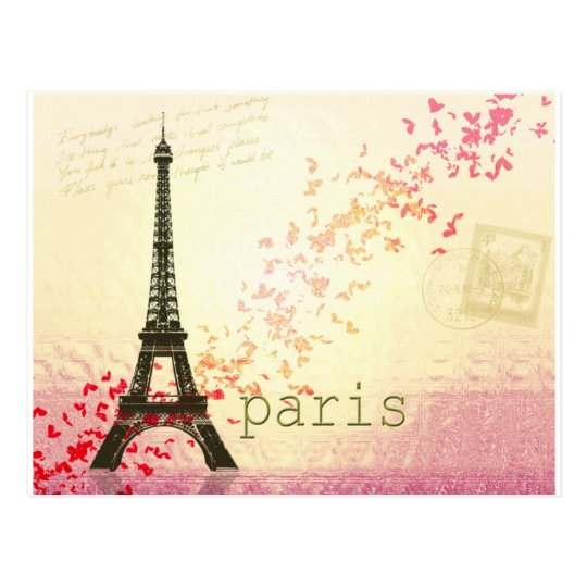 Love in Paris Postcard