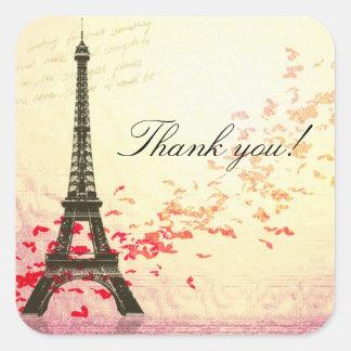 Love in Paris Thank you sticker
