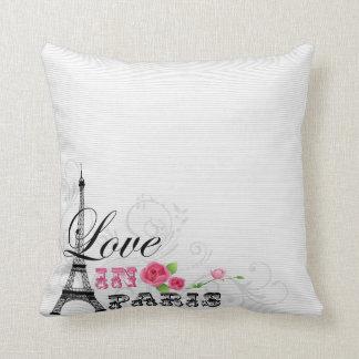 Love In Paris Throw Pillow