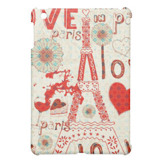 Love In Paris-Valentines Day Abstract Pern iPad Mini Cover