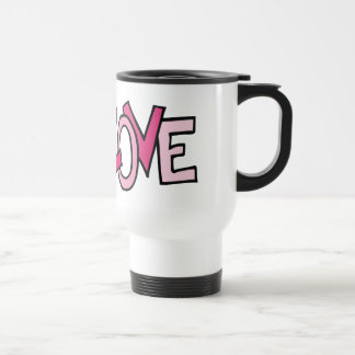 LOVE in Pink Captialized Letters Coffee Mugs