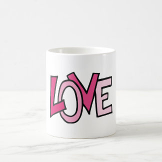 LOVE in Pink Captialized Letters Coffee Mug