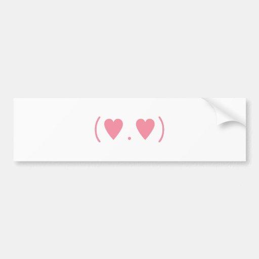 Love in Pink Car Bumper Sticker