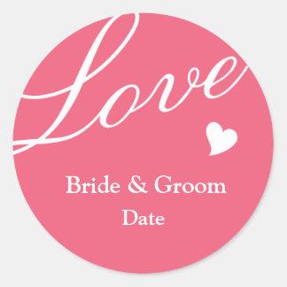 Love in Pink Classic Round Sticker