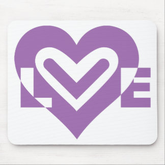 Love in Purple Mouse Pad