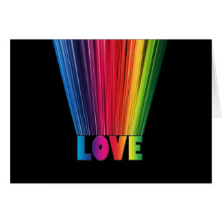 Love in Rainbow Colors Card