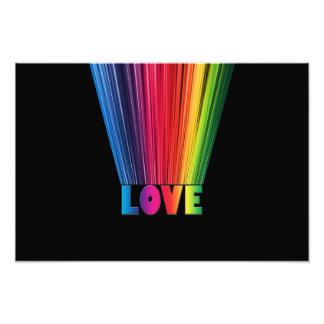 Love in Rainbow Colors Photo Print