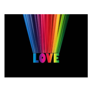 Love in Rainbow Colors Postcard