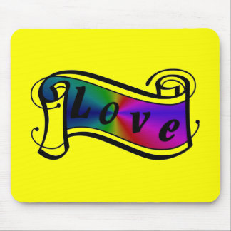 Love in rainbow Fantasy kind - kind Deco Mouse Pad