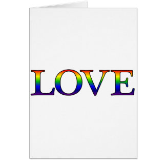 Love in rainbow print card