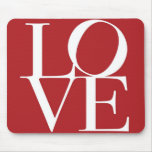 Love in Red Square Mouse Mat
