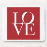 Love in Red Square Mouse Mats