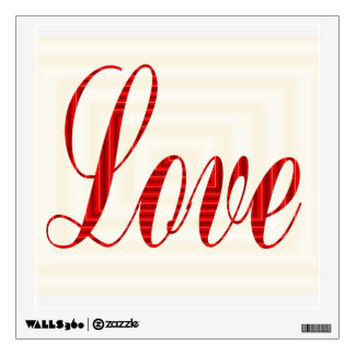 Love in red wall sticker