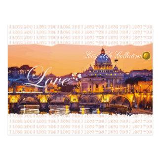 Love in Rome Postcard