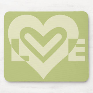 Love in Sage Green Mouse Pad