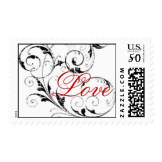 Love in Scroll Postage