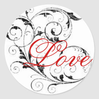 Love in Scroll Sticker