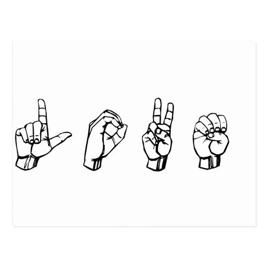 Love in Sign Language Postcard