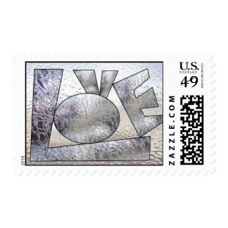 LOVE in Stained Glass Postage