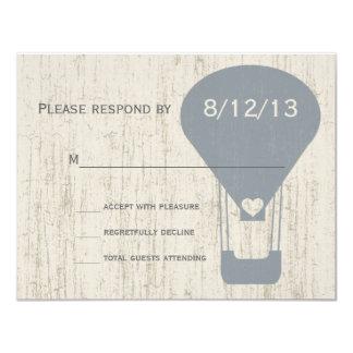 Love in the Air Balloon Wedding Response Card