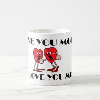 'Love in the air' Black/White 11 oz Morphing Mug