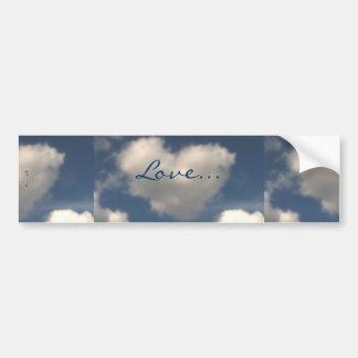 Love in the Air Car Bumper Sticker