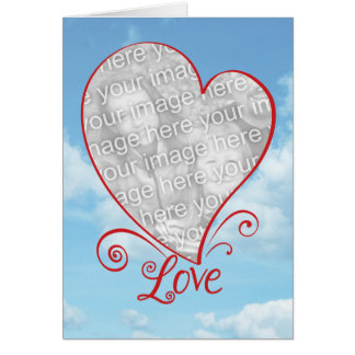 Love in the Air Engagement Custom Photo Card