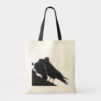 Love in the Air - Raven Grocery Tote Bag