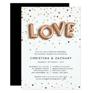 Love in the Air   Rehearsal Dinner Invitation