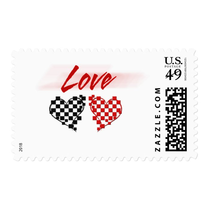 Love in the fast lane -for Nascar fans Stamp