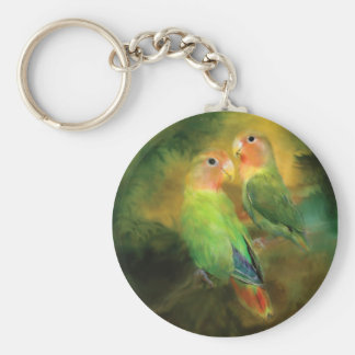 Love In The Golden Mist Art Keychain