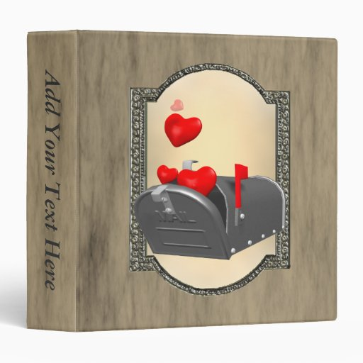 Love In The Mail 3 Ring Binder