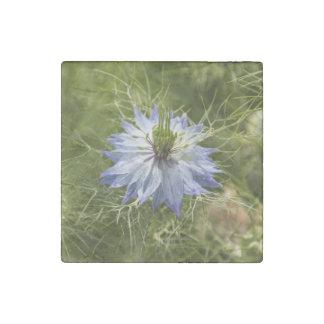 Love in the Mist Flower Marble Magnet