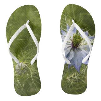 Love in the Mist Flower Women's Flip Flops