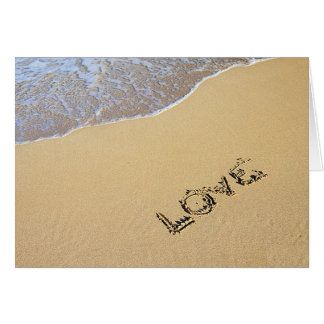 Love in the Sand Card