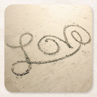 Love In The Sand Paper Coasters