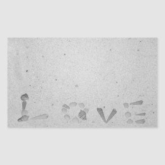 Love in the Sand Rectangular Sticker