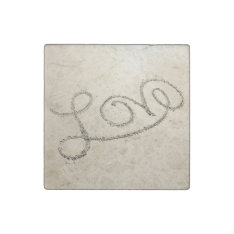 Love In The Sand Stone Magnet at Zazzle