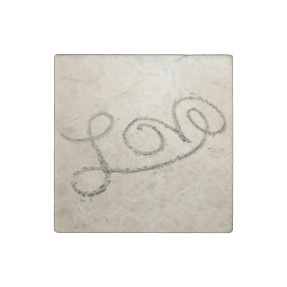 Love in the Sand Stone Magnet