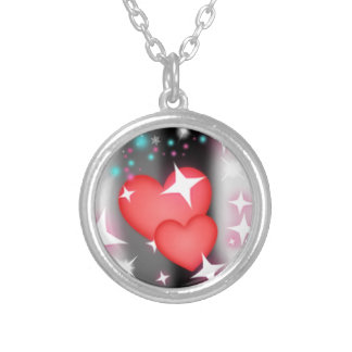 Love in the sky round pendant necklace