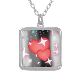 Love in the sky square pendant necklace
