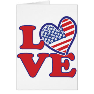 Love in the USA Greeting Card