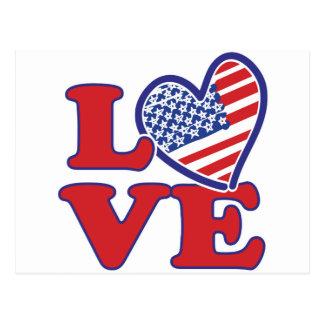 Love in the USA Postcard