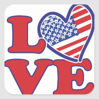 Love in the USA Square Sticker