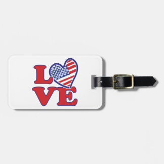 Love in the USA Tags For Bags
