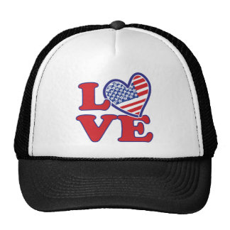Love in the USA Trucker Hats