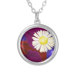 Love in Tokyo :  Sensual Rose Petal Art Silver Plated Necklace